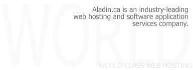 Aladin.ca is an industry-leading web hosting and software application services company.